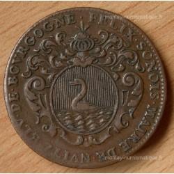 Jeton des Etats de Bourgogne 1701 Felix Sonois