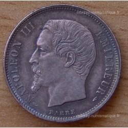 50 CENT. Napoléon III tête nue 1854 A