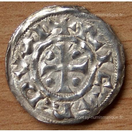 Denier Richard Ier (942-996) fronton avec point Normandie