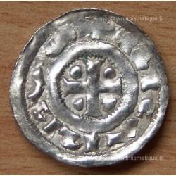 Denier Richard Ier (942-996) monogramme Normandie