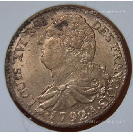 2 Sols François 1792 A Paris