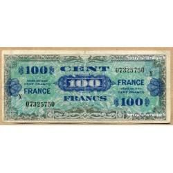 100 Francs Verso France Juin 1945 série X
