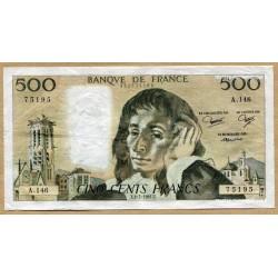 500 Francs Pascal 2-7-1981 A.146