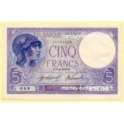 5 Francs Violet 5-4-1918 V 1470