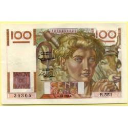 100 Francs Paysan 6-8-1953 R.551