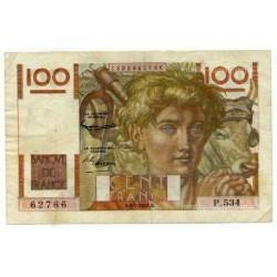 100 Francs Paysan 5-2-1953 P.534