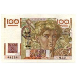 100 Francs Paysan 7-2-1952 Q.424